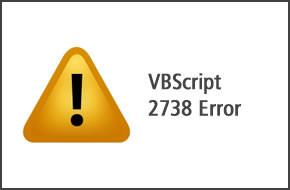 VBScript 2738 Error