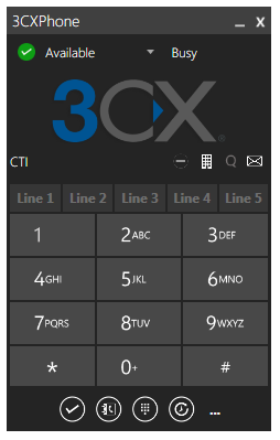 Easily setup conference calls and see the presence of your colleagues with 3CXPhone for Windows