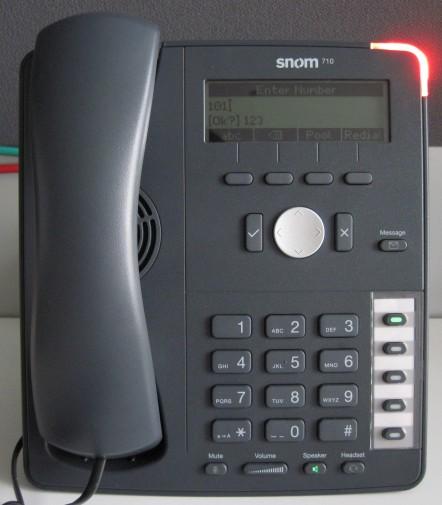 make calls snom 715 710