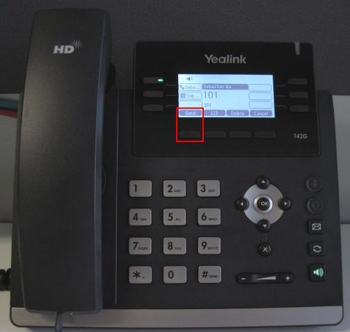 make calls yealink t42 t41