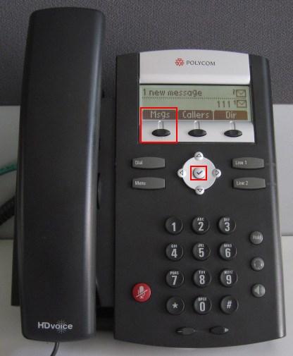 voicemail polycom 335