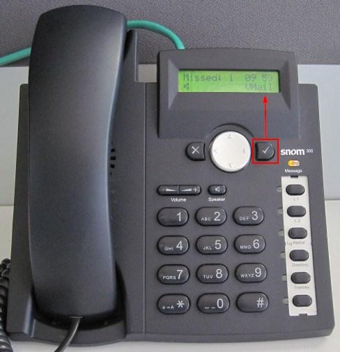 voicemail snom 300