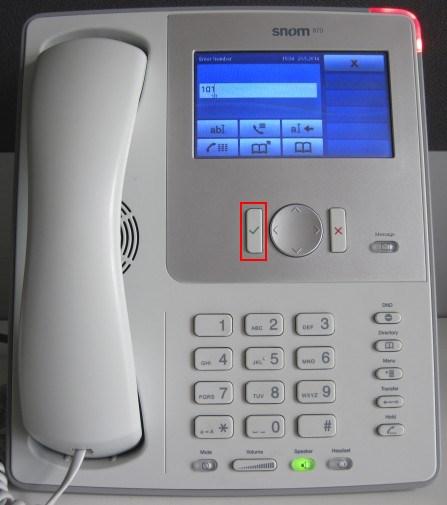 make calls snom 870