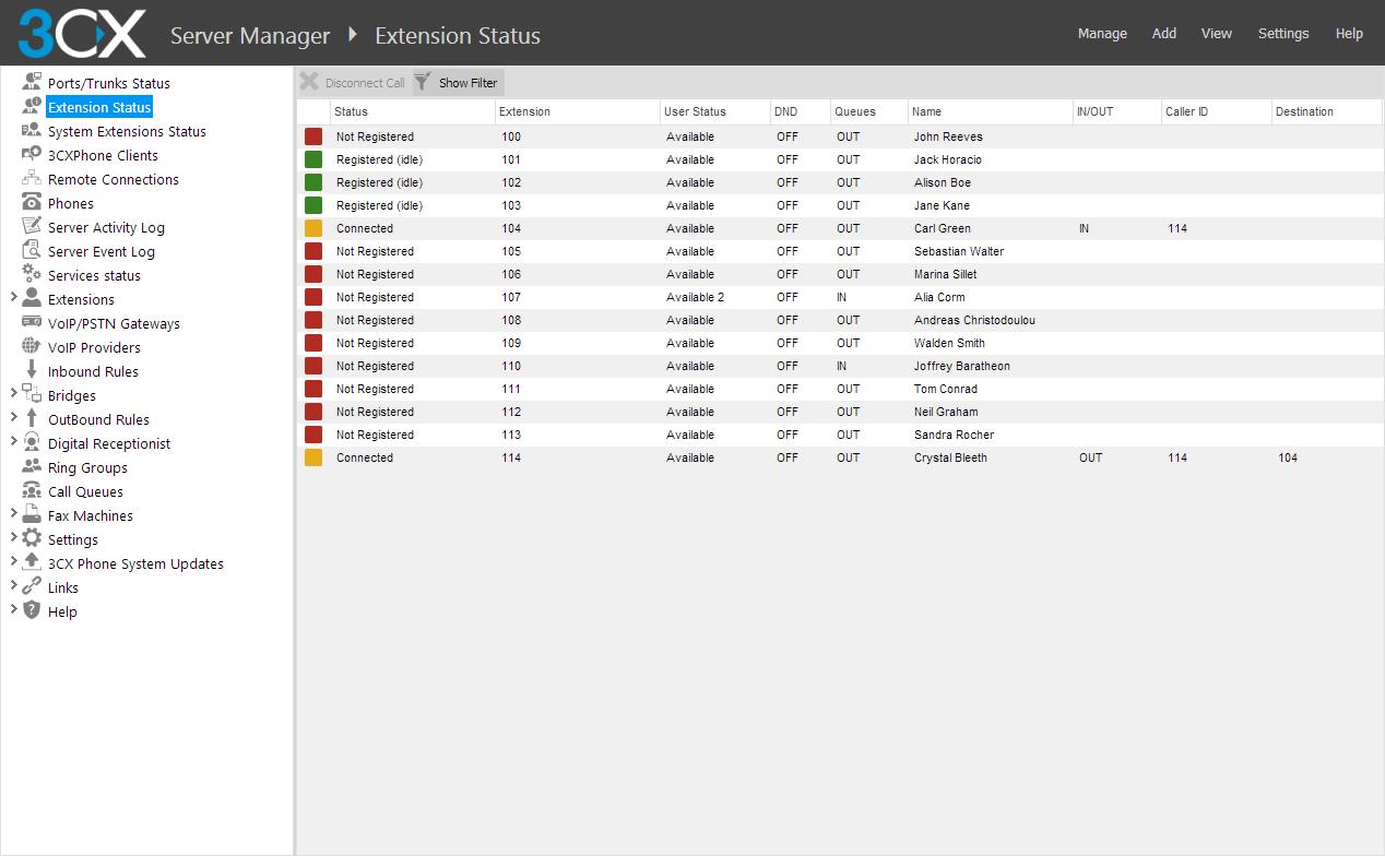 3CX Web Management Console
