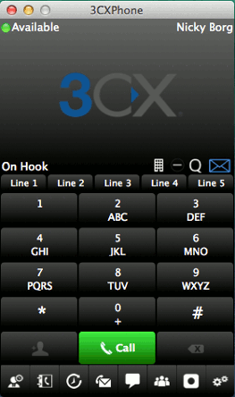 Image of the new 3CXPhone for Mac OS