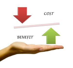 Benefit vs Cost comparison on hand