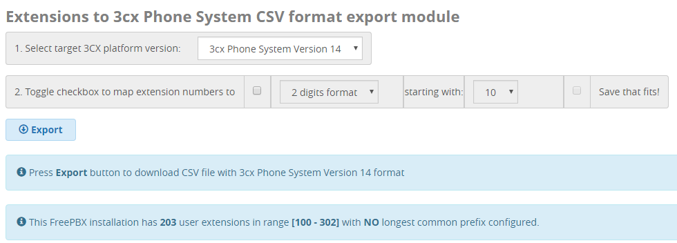 Export your extensions from your Asterisk FreePBX to 3CX in 5 minutes with  this guide