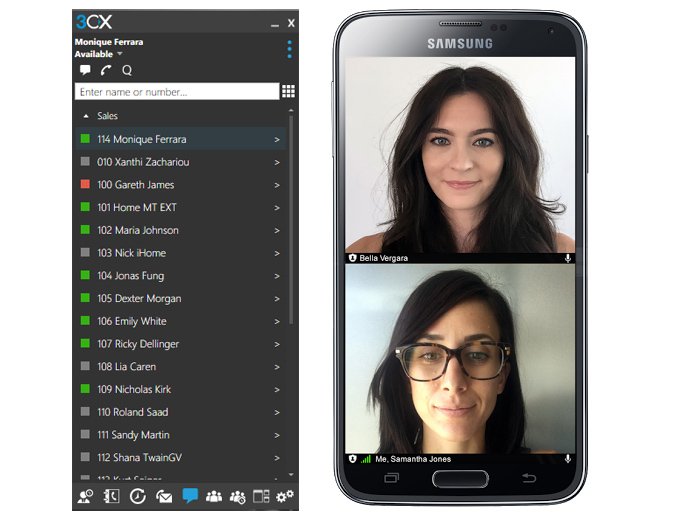 The new 3CX WebMeeting Windows and Android client