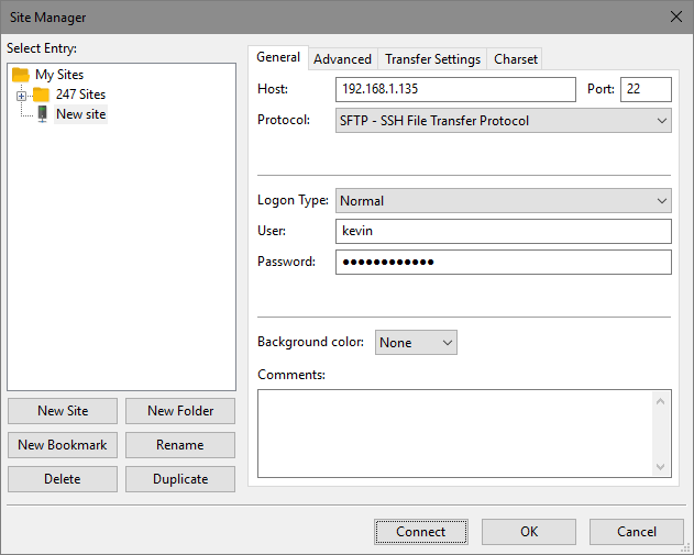 Connecting to the SSH Server using Filezilla Client_1