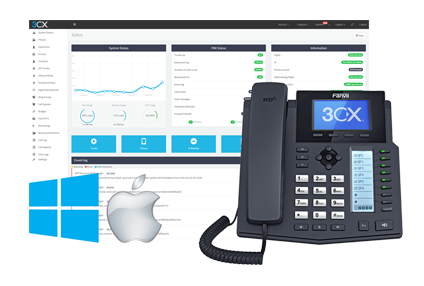 Easy to manage and configure free PBX in minutes