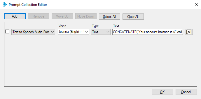 The 3CX Call Flow Designer includes Text to Speech