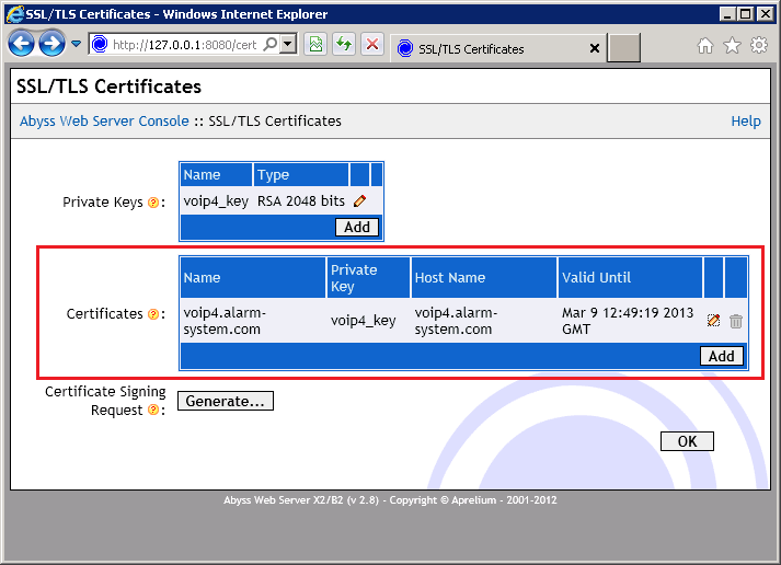 Abyss - Confirm Certificate
