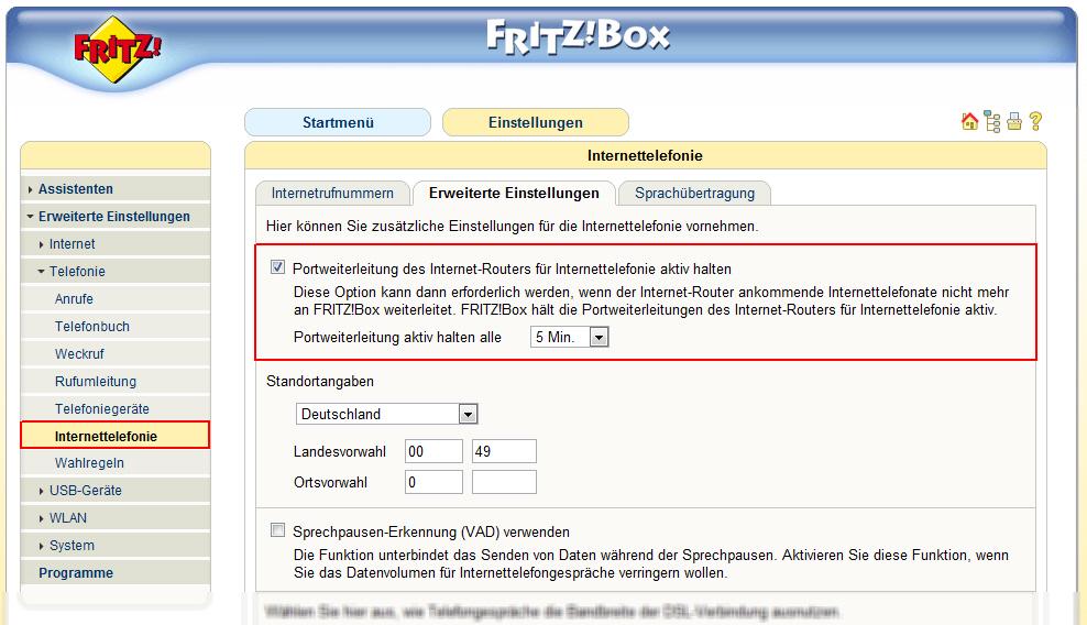 fritz box 7390 инструкция на русском